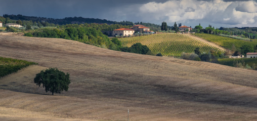 Toskanische Hügel