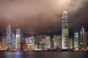 Skyline von Hong Kong Island