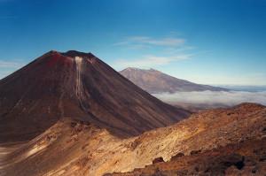 Mount Ngauruhoe auf der Nordinsel Neuseelands
