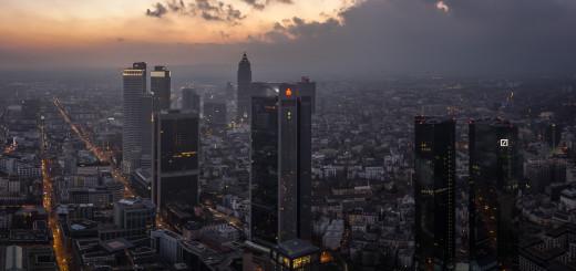 Abendliches Frankfurt