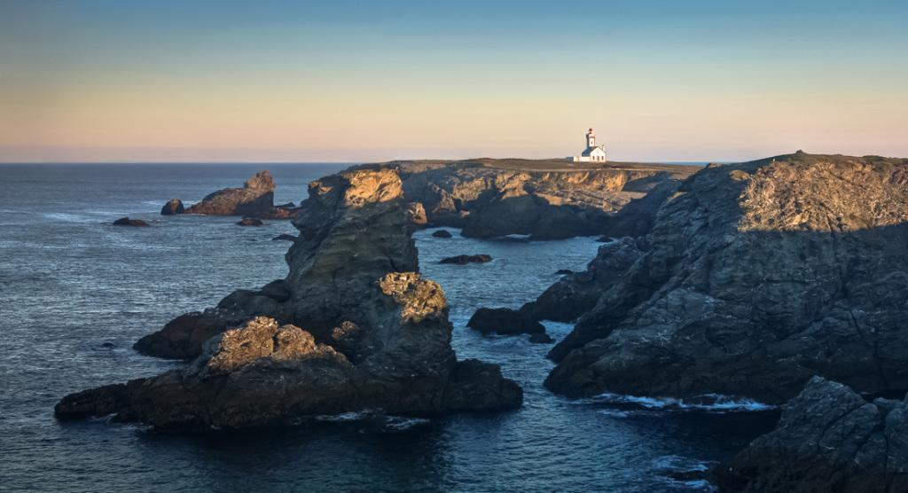 Sonnenaufgang am Pointe des Poulains